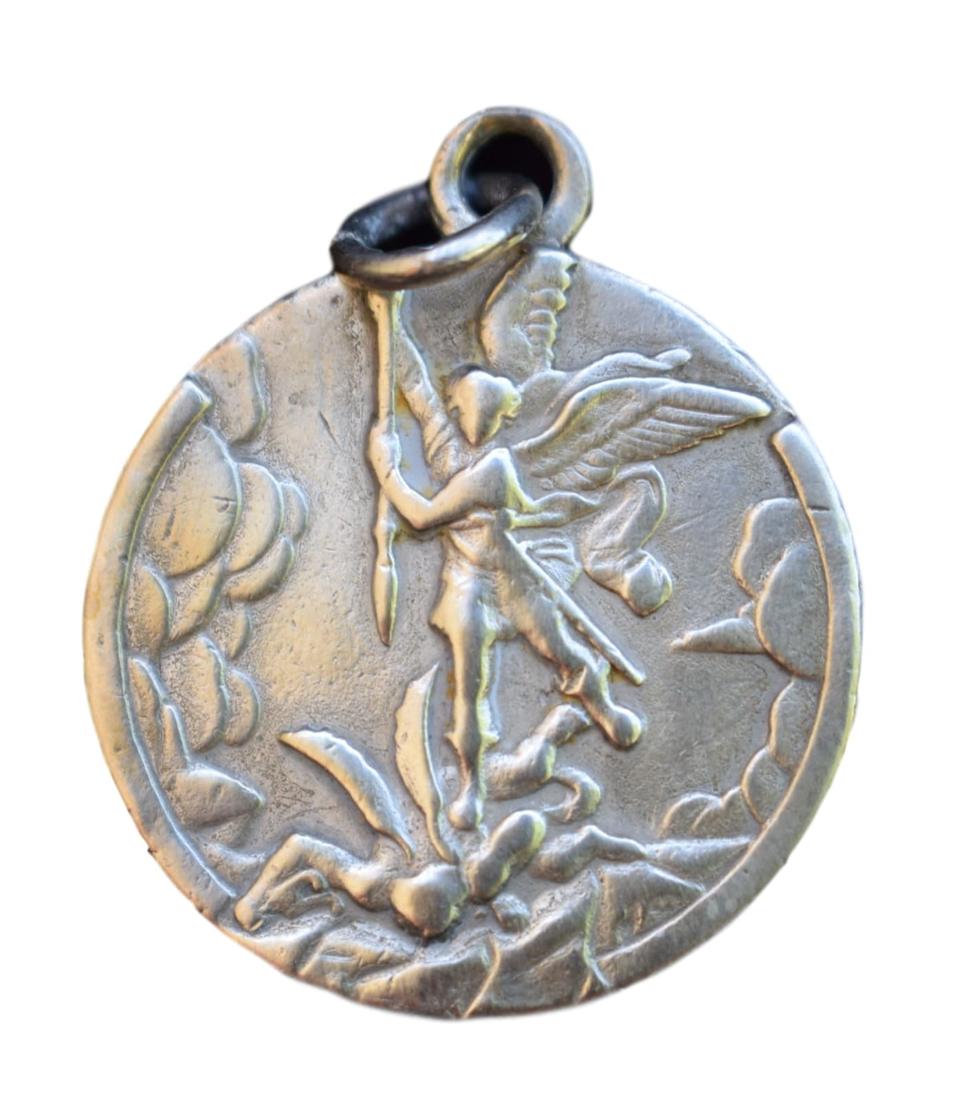 SOLD St Michael Medal - Charmantiques