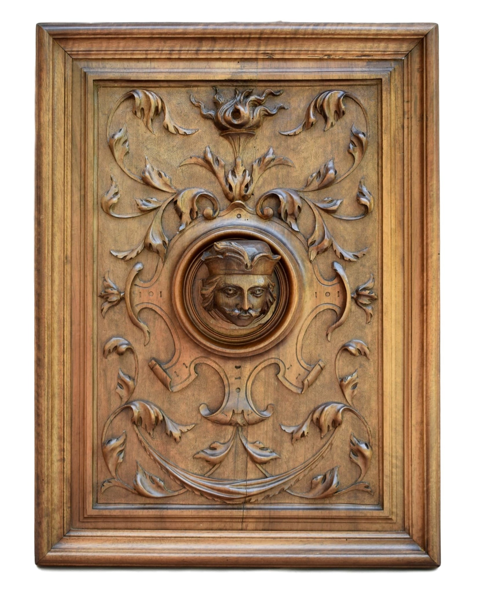 Carved Wood Panel : the King - Charmantiques