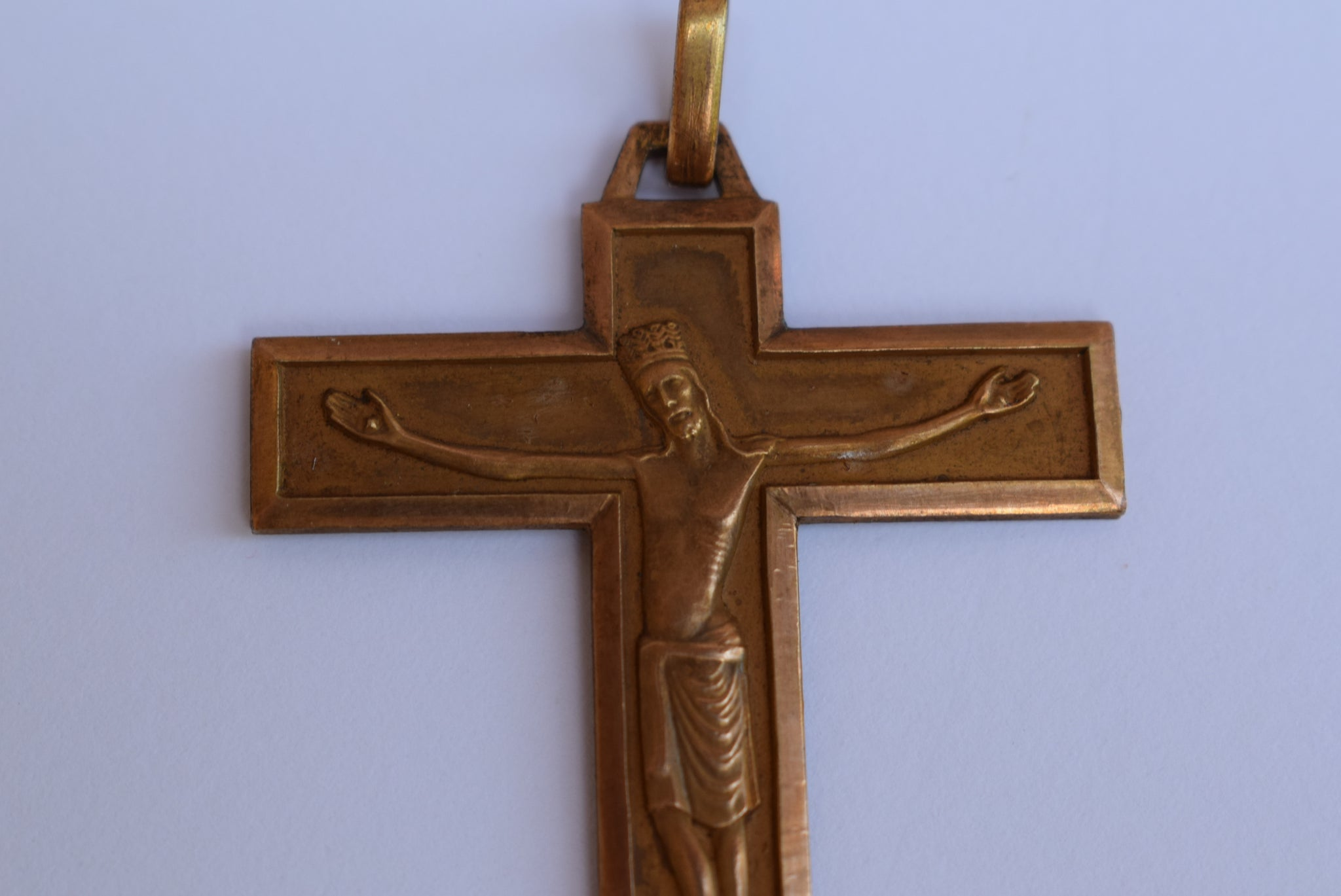 Crowned Jesus Pectoral Cross - Charmantiques