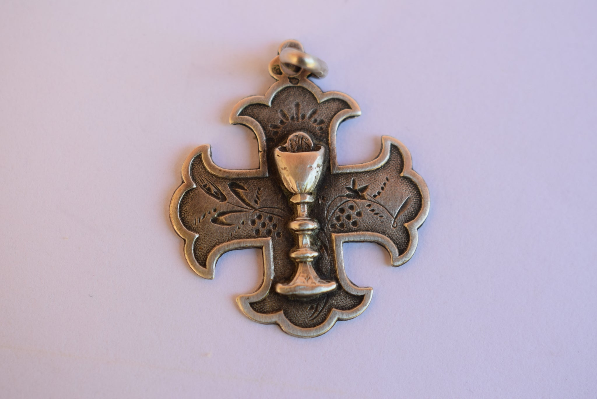 Sterling Silver Maltese Cross Medal - Charmantiques