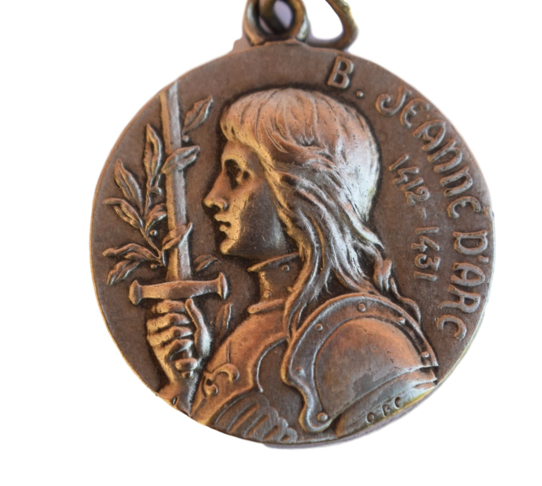 Rare Large Saint Joan of Arc Medal - Charmantiques