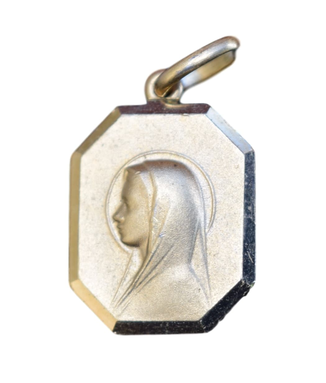 Our Lady Virgin Mary Medal - French Religious Lourdes Medal Pendant Charm - Gold Filled Religious Medal Necklace