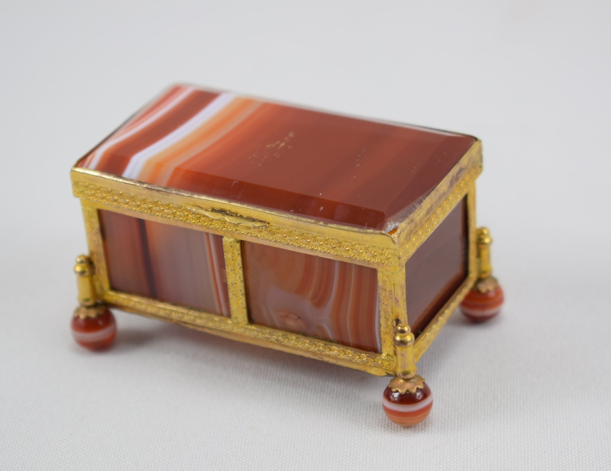 Orange Agate Hinged Box