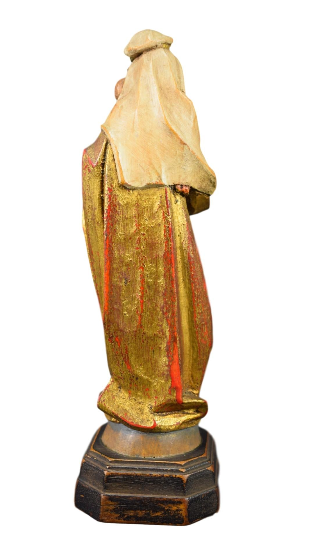 Wood Carved Religious Statue - Charmantiques
