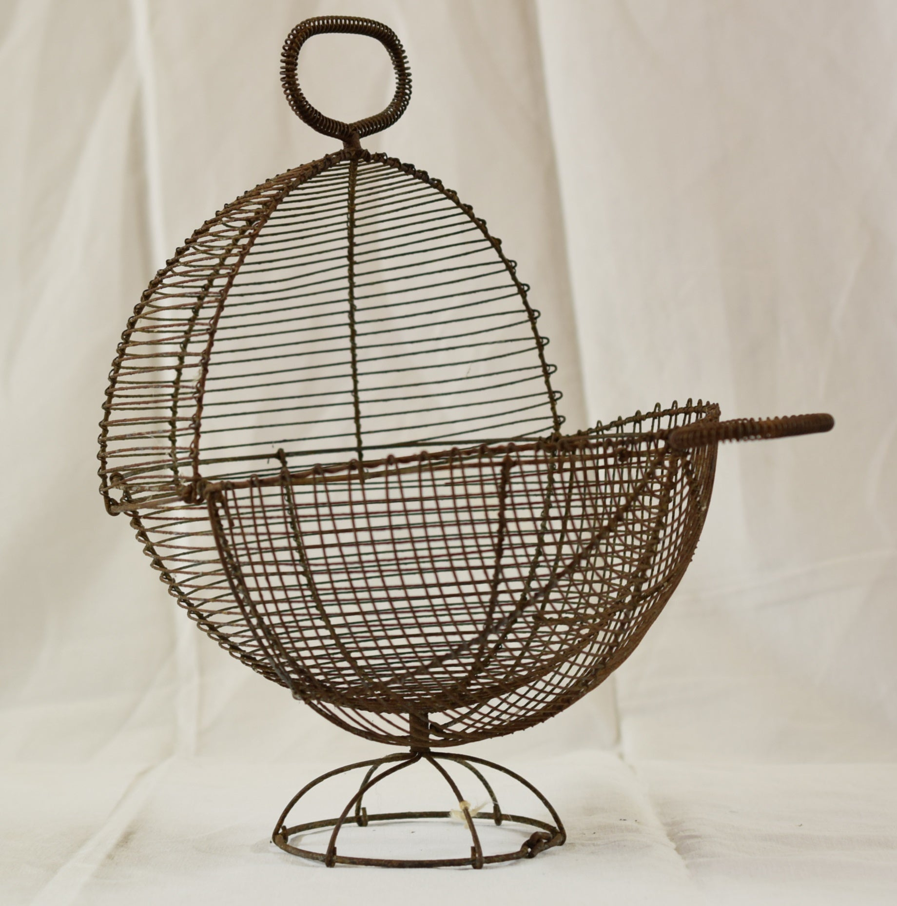 Antique French Wire Egg Salad Basket