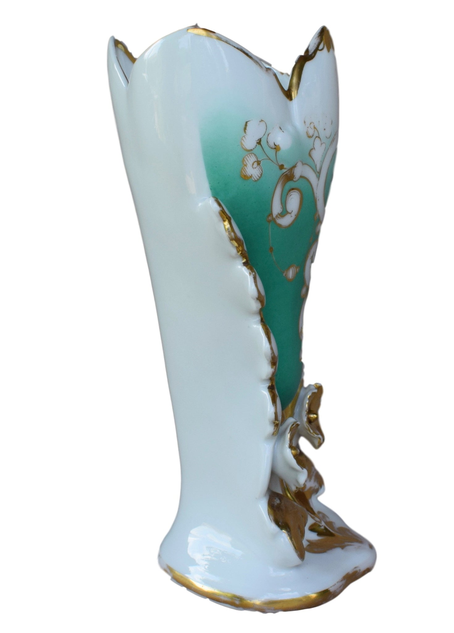 19th.C Large Old Paris Porcelain Vase - Charmantiques