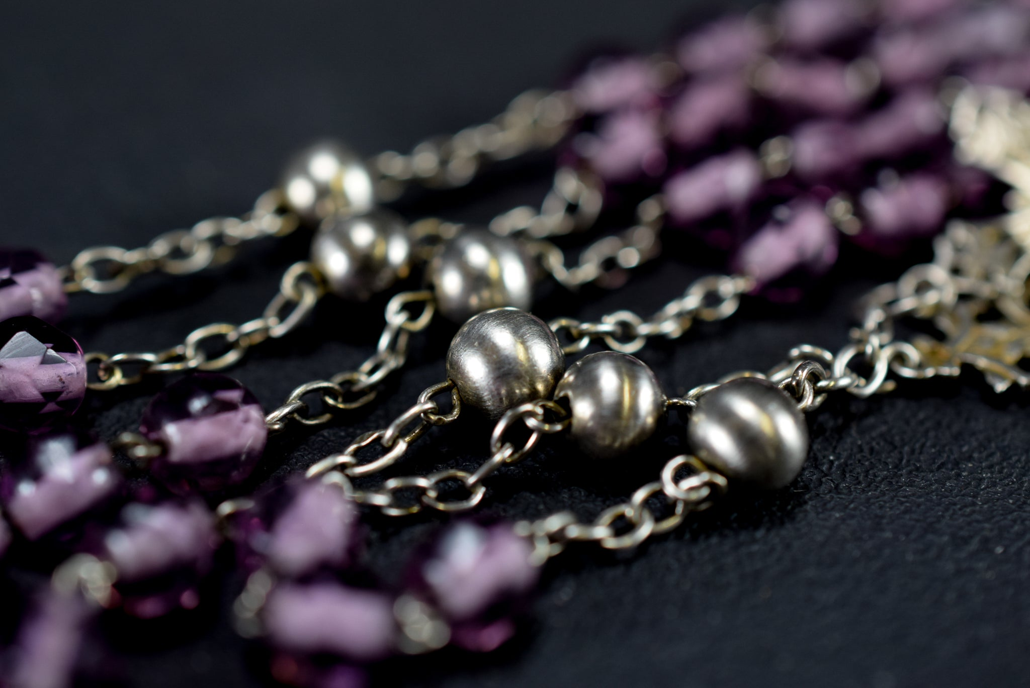 Purple & Silver Rosary