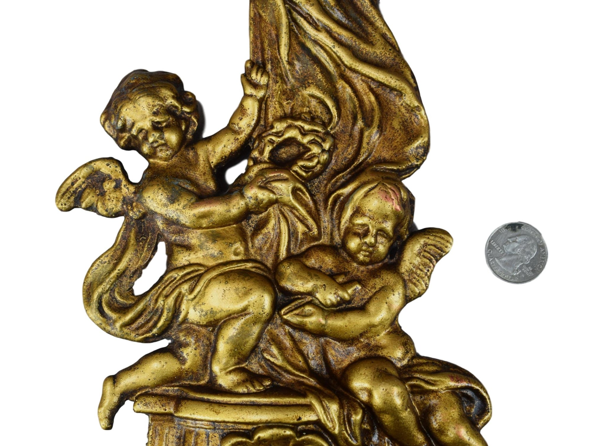 Angels Bronze Holy Water Font - Charmantiques