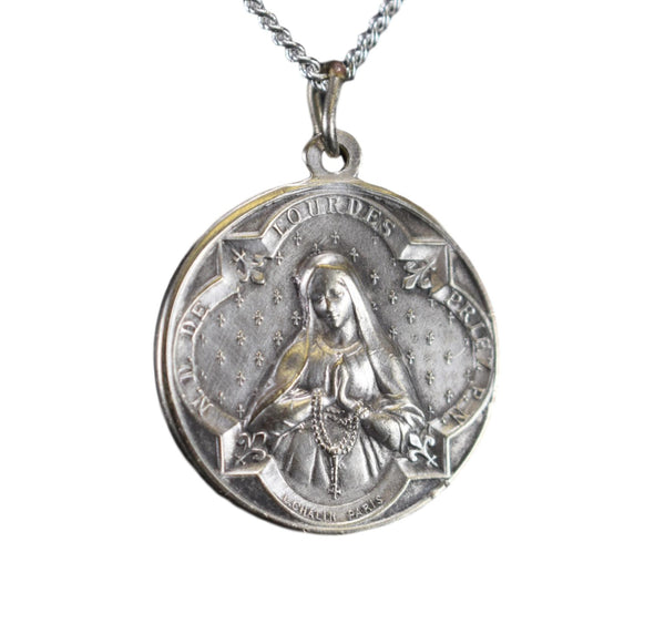 Our Lady of Lourdes Medal Pendant Medal by Chalin Paris