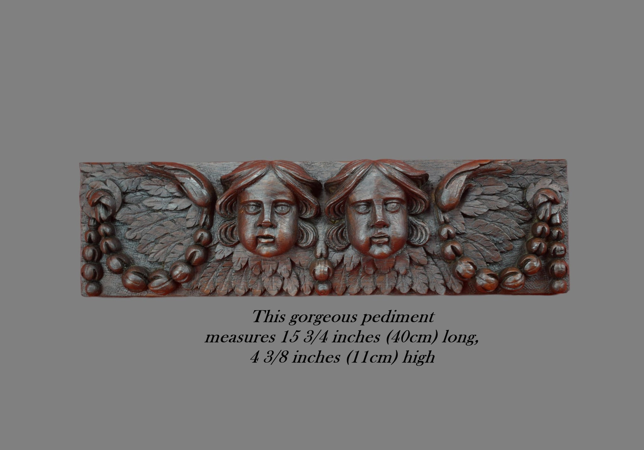 17th Century Wall Panel Angels - Charmantiques