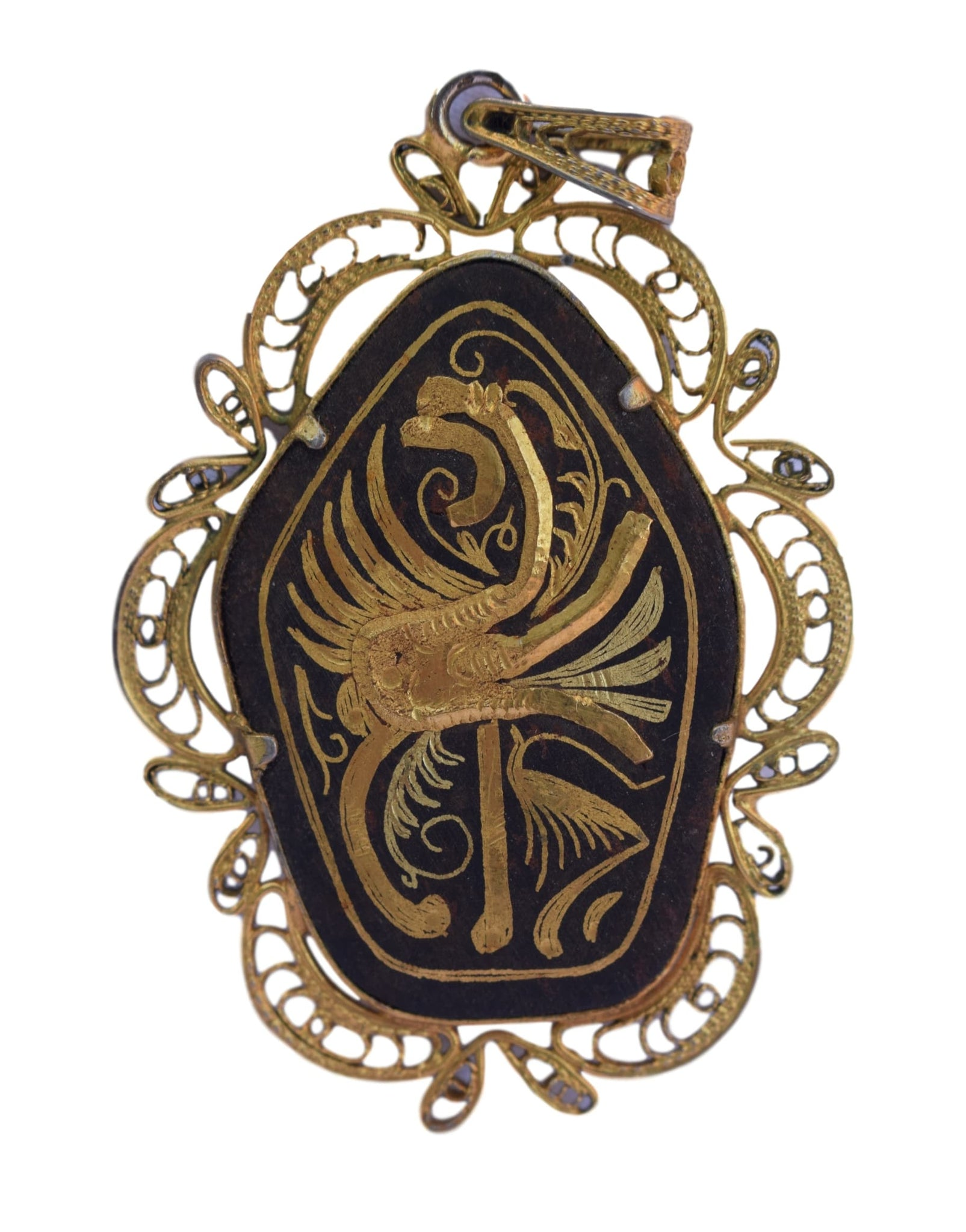 Filigree Griffin Pendant - Charmantiques