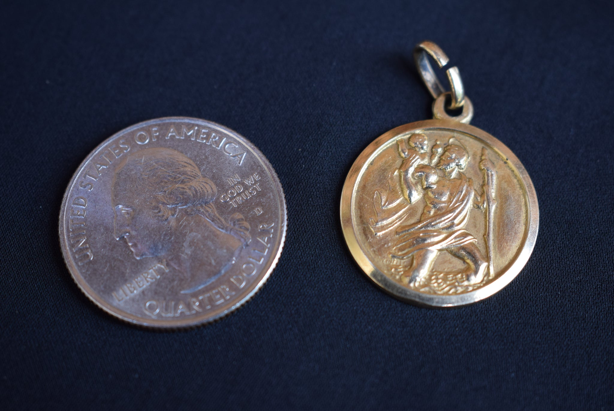 Italian Christopher Medal - Charmantiques