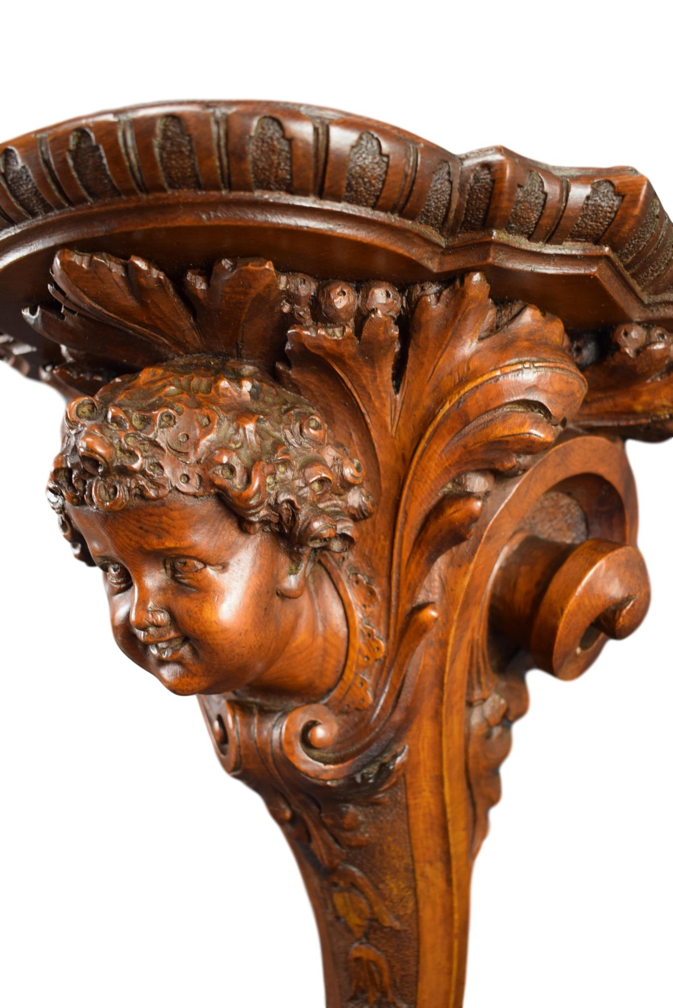 Hand Carved Console Besarel - Charmantiques