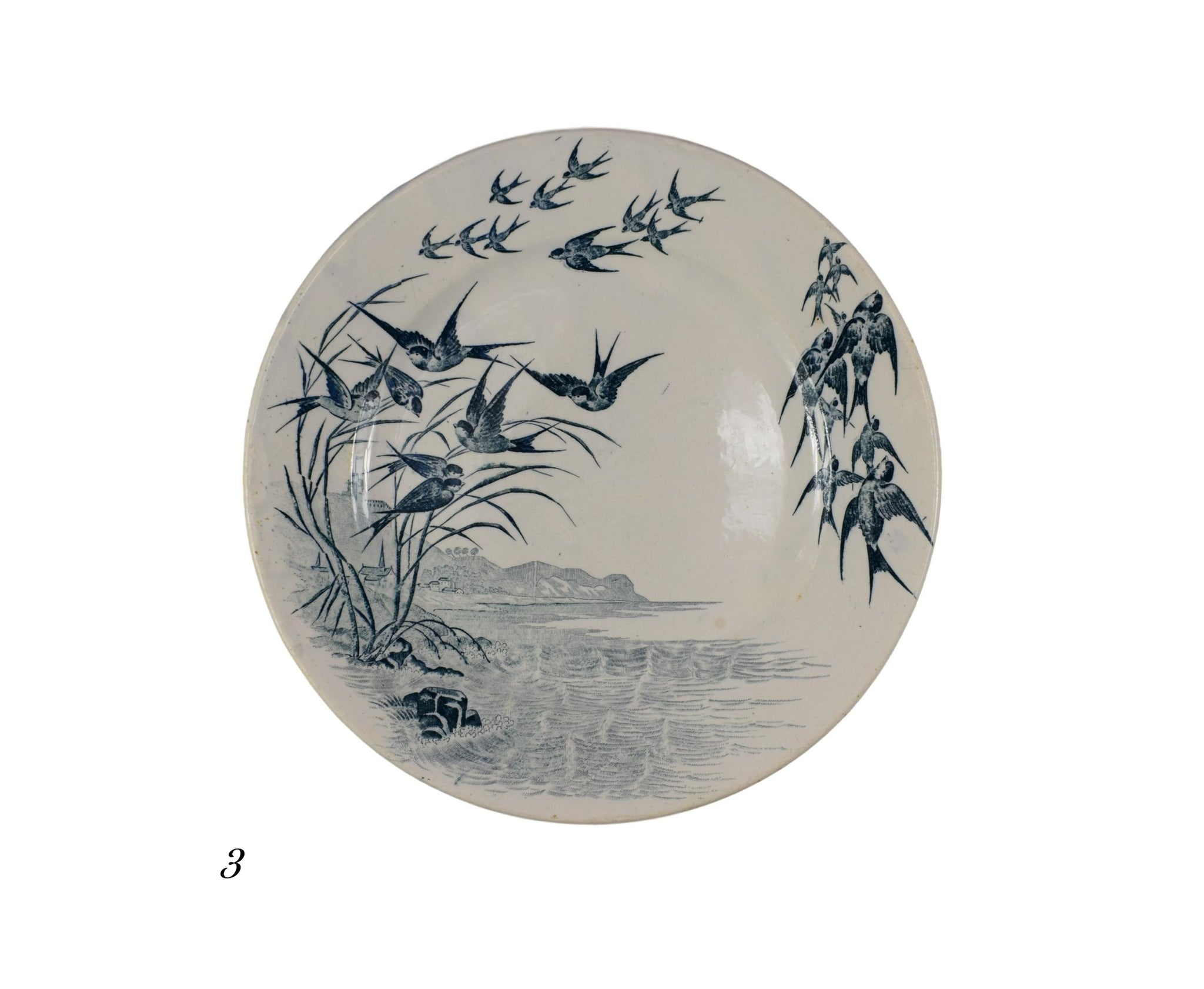 Swallows Plate - Charmantiques