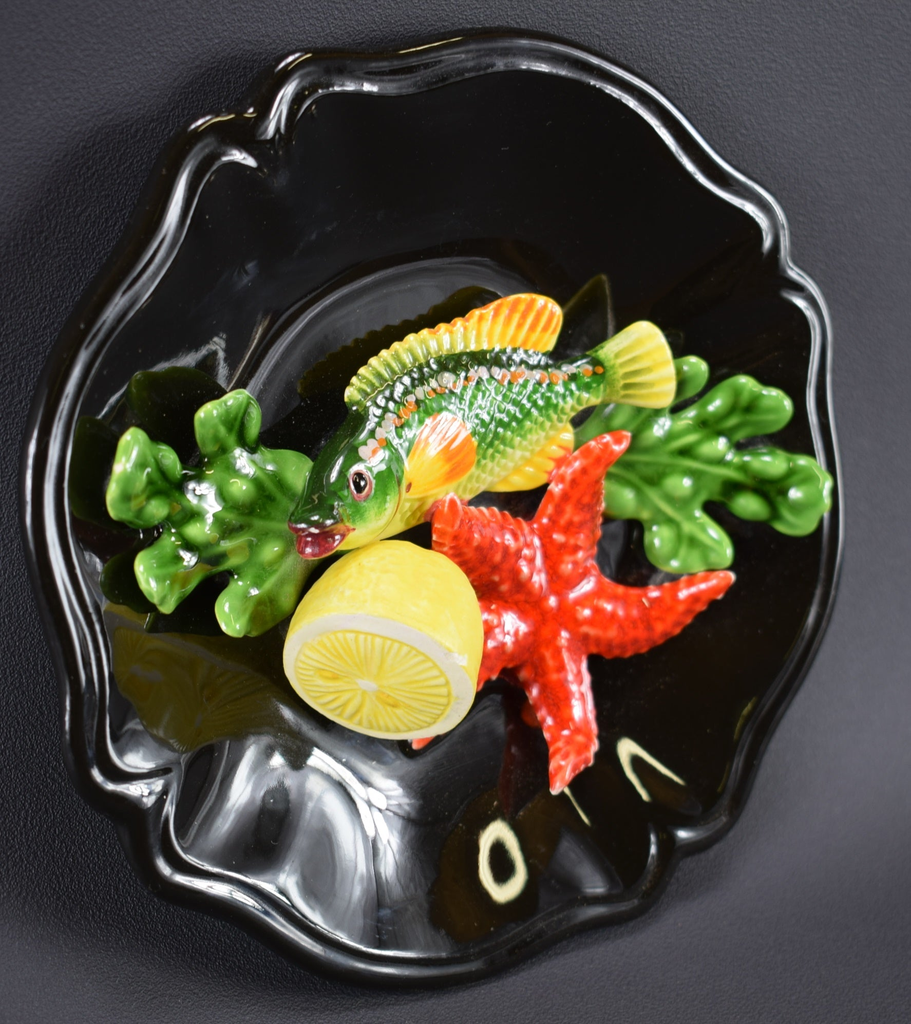 Green Fish Plate - Charmantiques