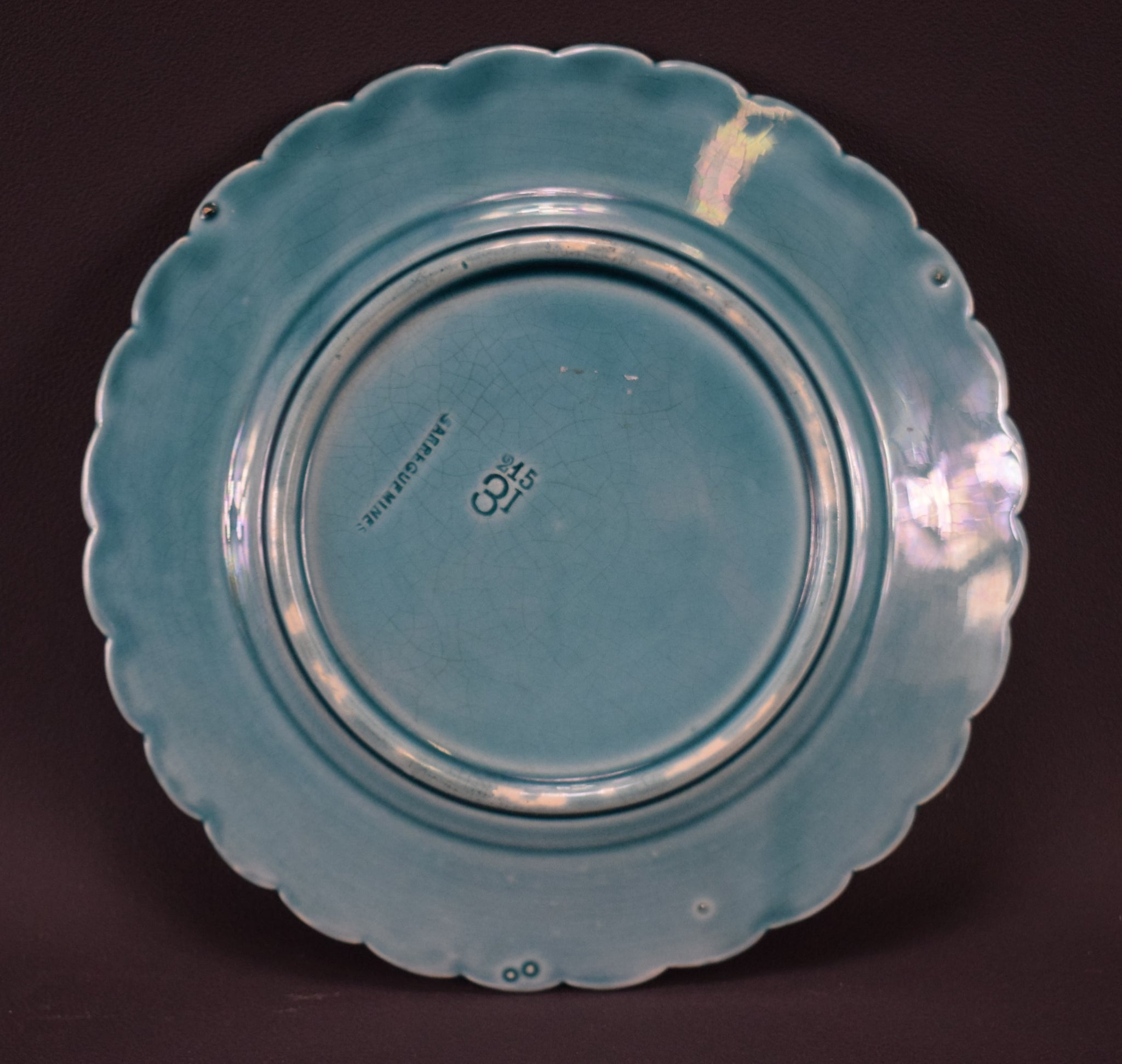 Sarreguemines Turquoise Bird Plate - Charmantiques