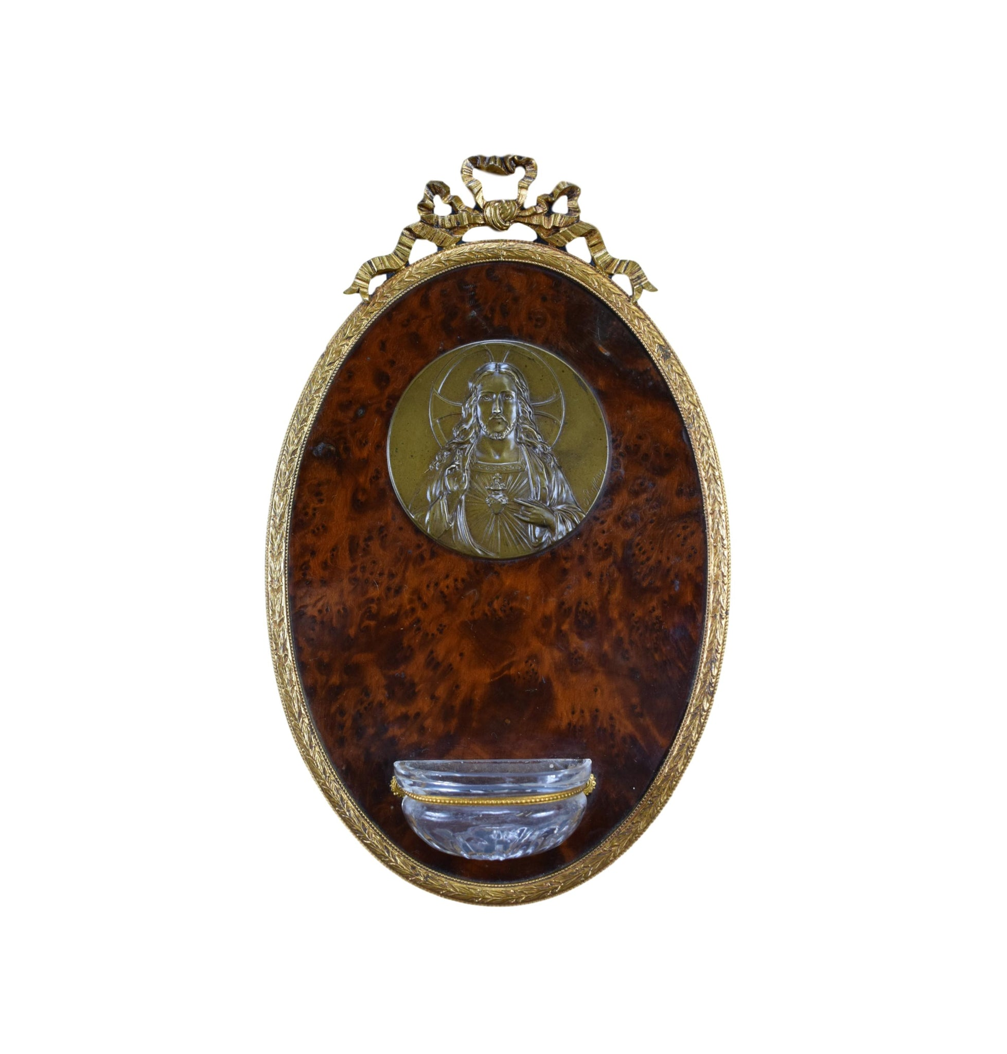 Jesus Sacred Heart Holy Water Font - Charmantiques