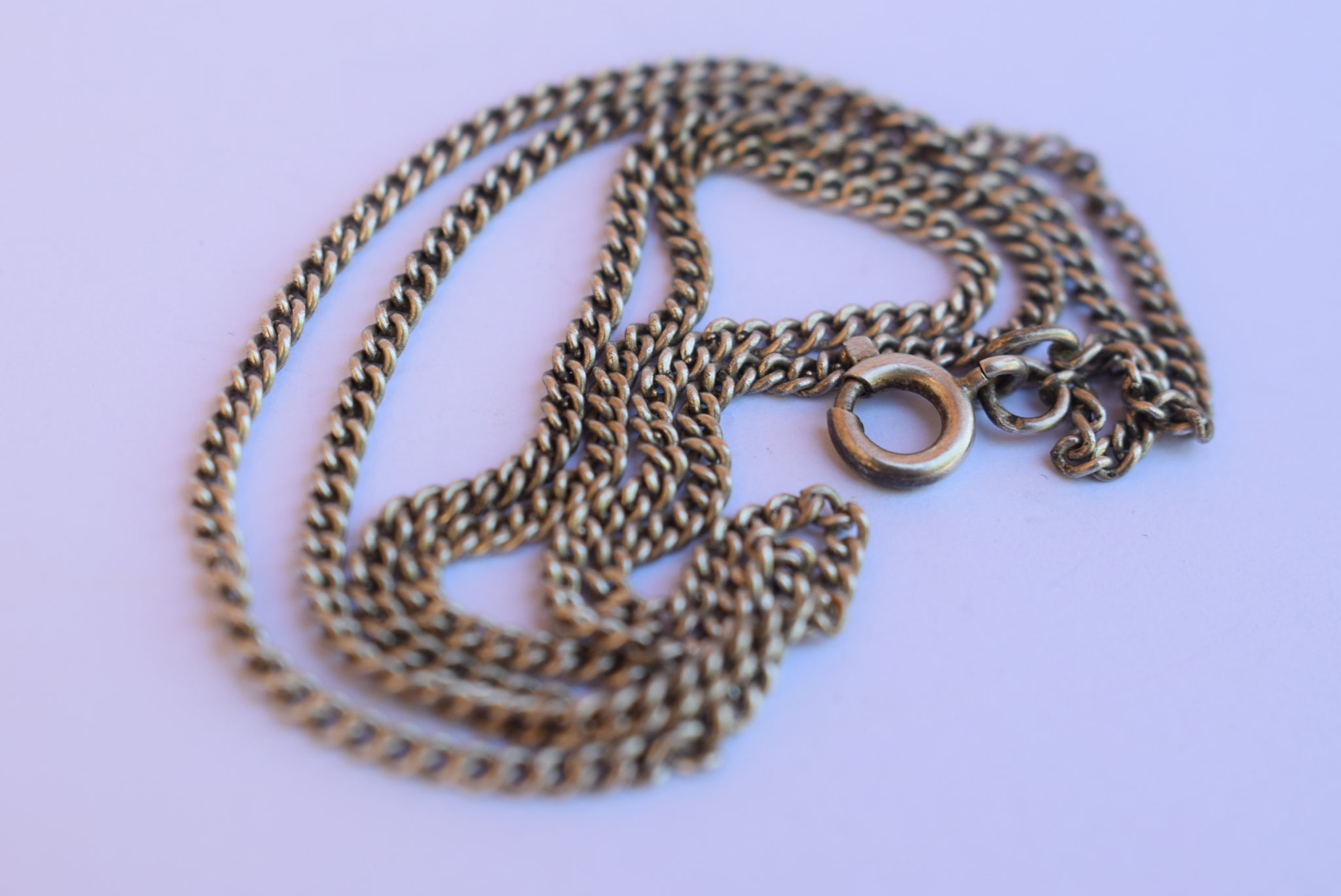 French Sterling Silver Rolo Chain - Charmantiques