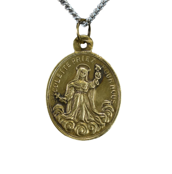 Rare St Colette and St Clare Medal Patron for Women Trying To Get Pregnant Pregnancy Sick Children