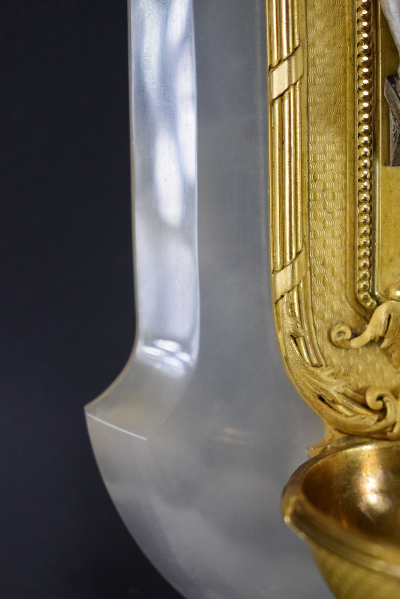 Gold and White Holy Water Font