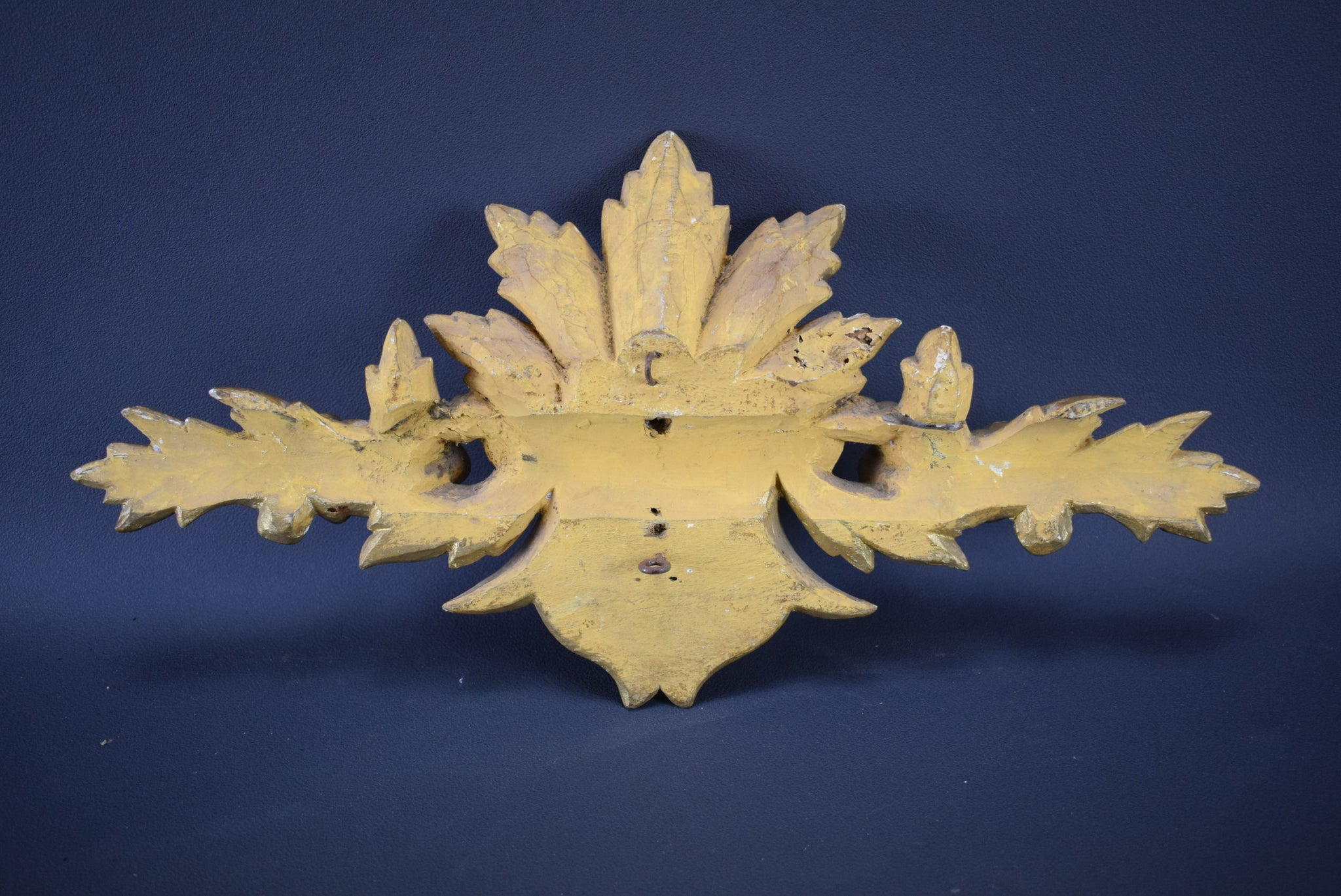 Gilt Wood Pediment - Charmantiques