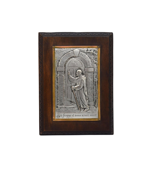 Jesus Christ by L Tricard Standing Plaque Frame Matthew 7:7