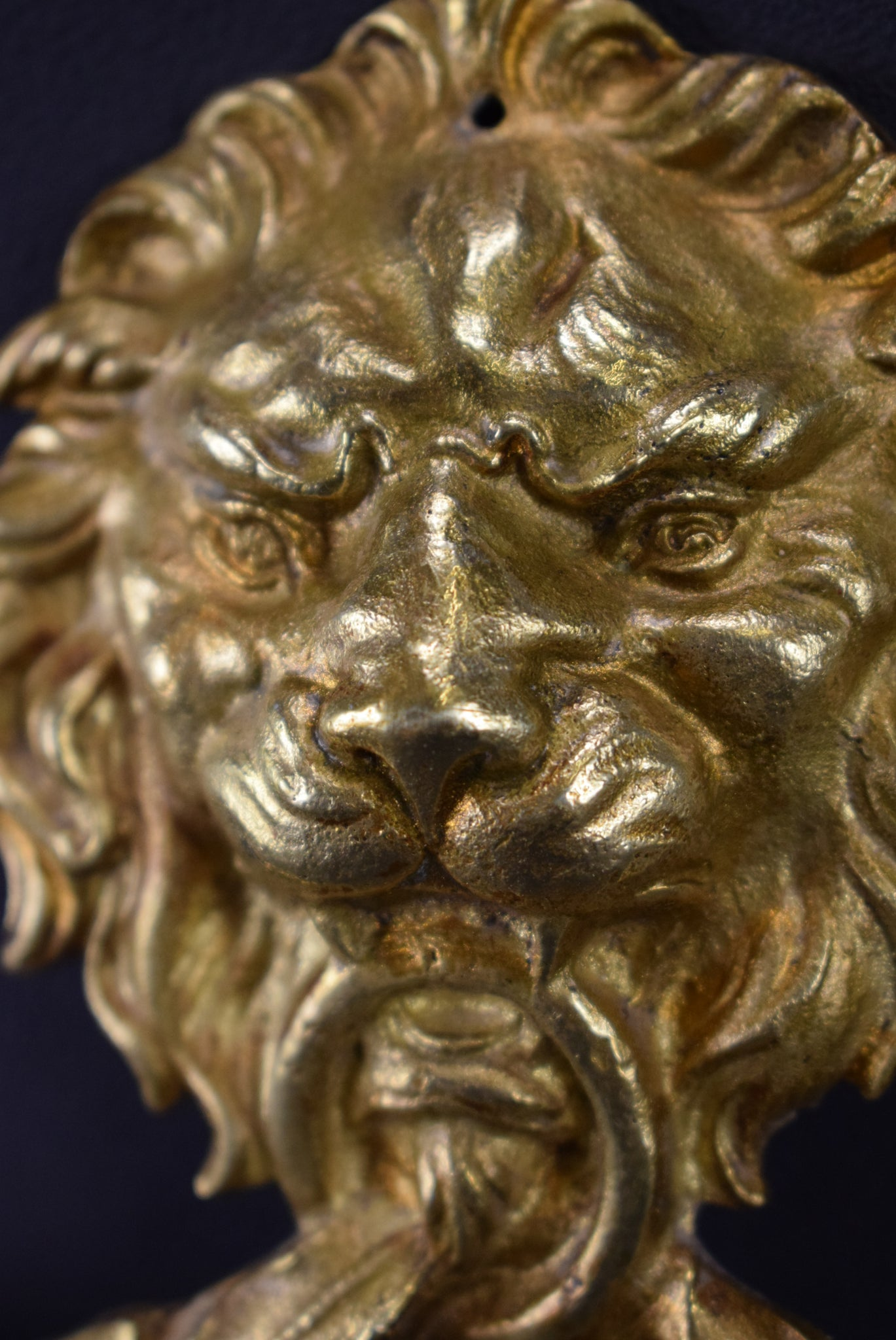 Lion Bronze Pediment - Charmantiques