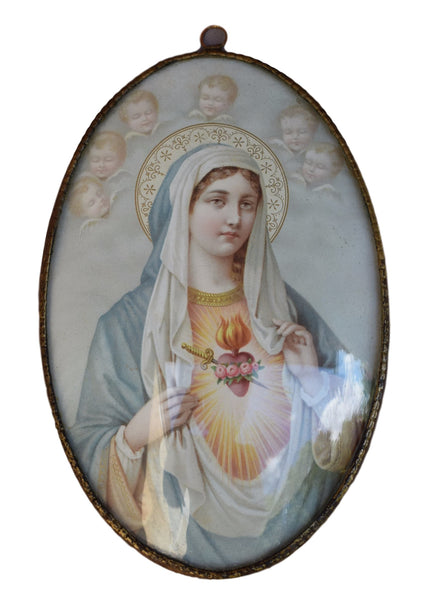 Mary Sacred Heart Frame - Charmantiques