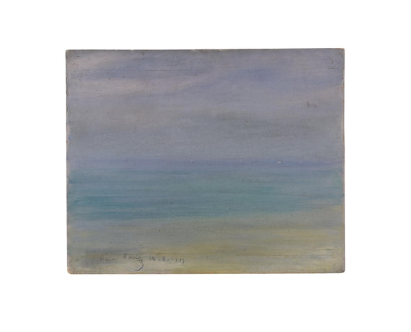 Impressionist Oil Painting Sea Sky Beach 1915 Shades of Blue