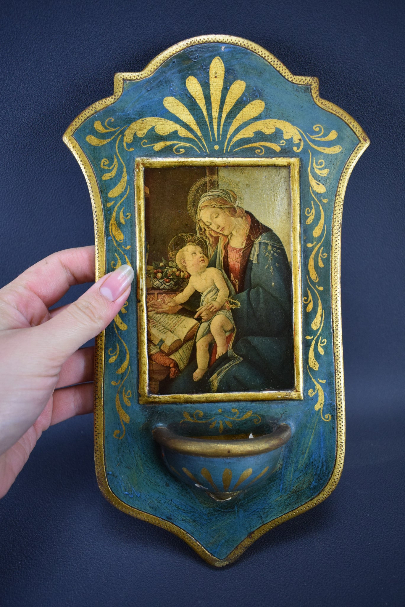 Madonna Holy Water Font - Charmantiques