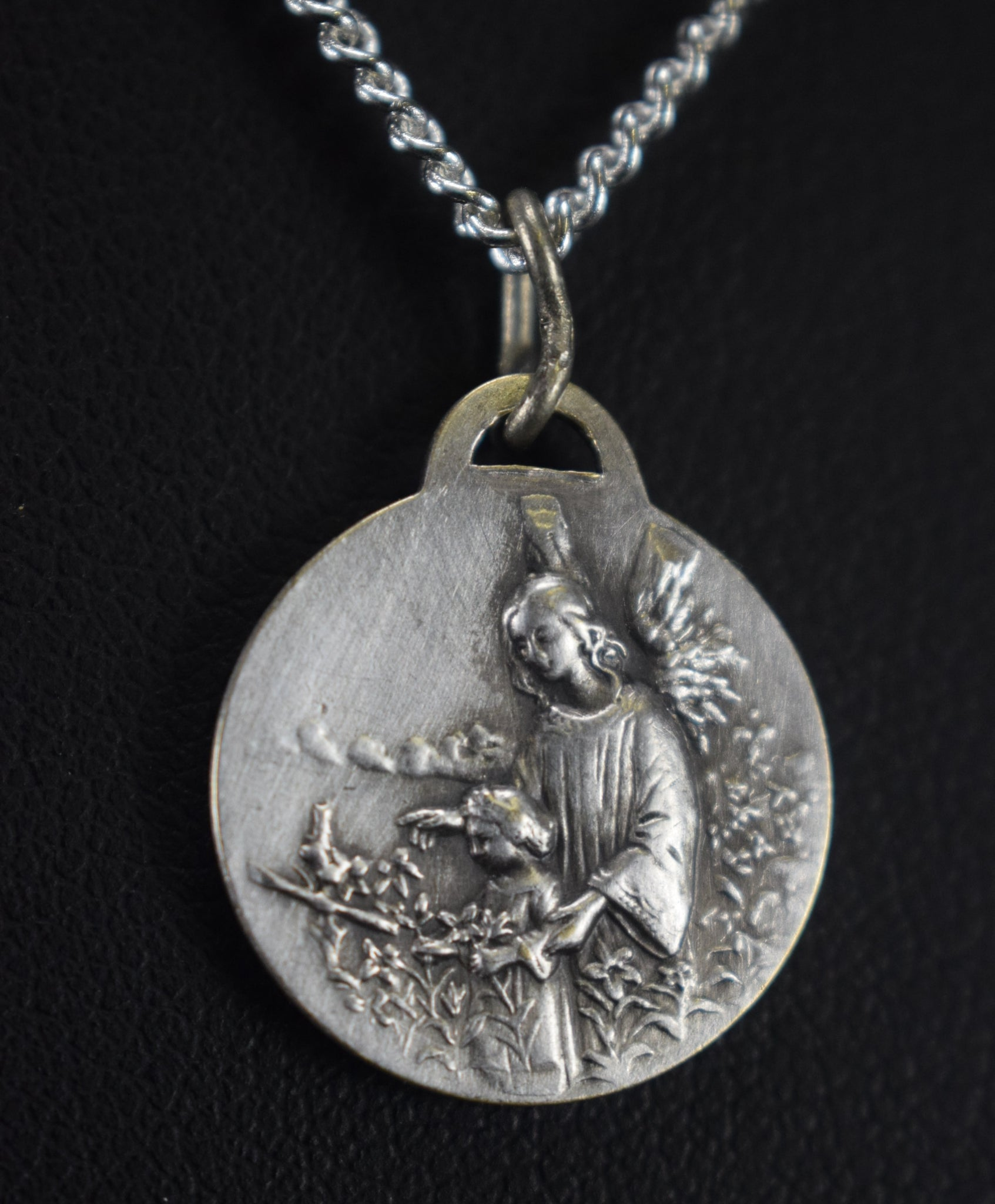 Holy Family and Guardian Angel Medal - Charmantiques