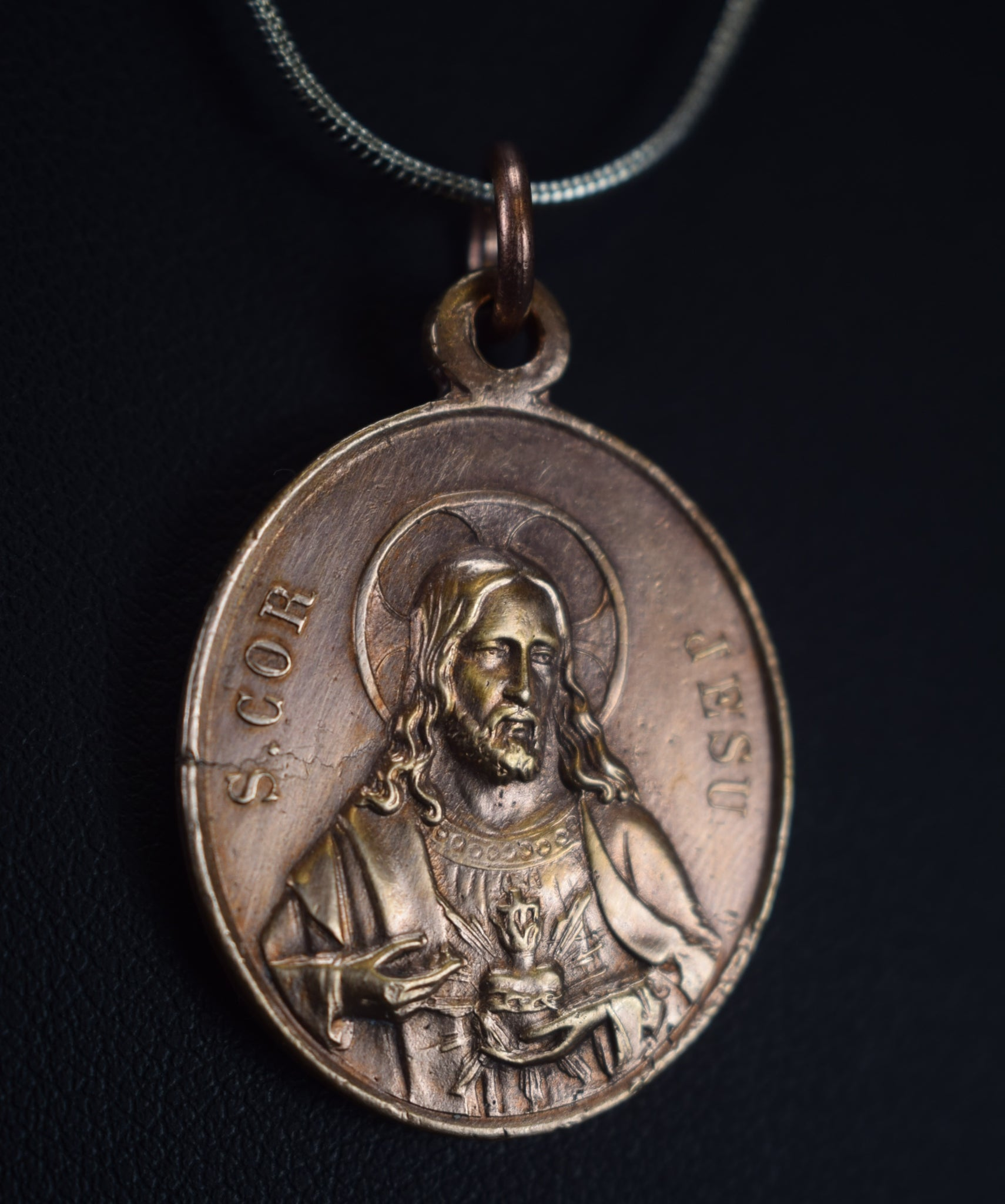 Sacred Heart of Mary and Jesus Medal - Charmantiques