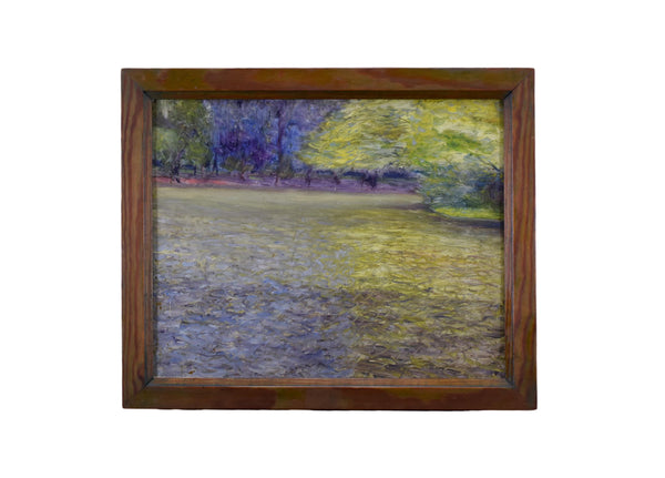 Impressionist Signed Oil Painting Water Forest