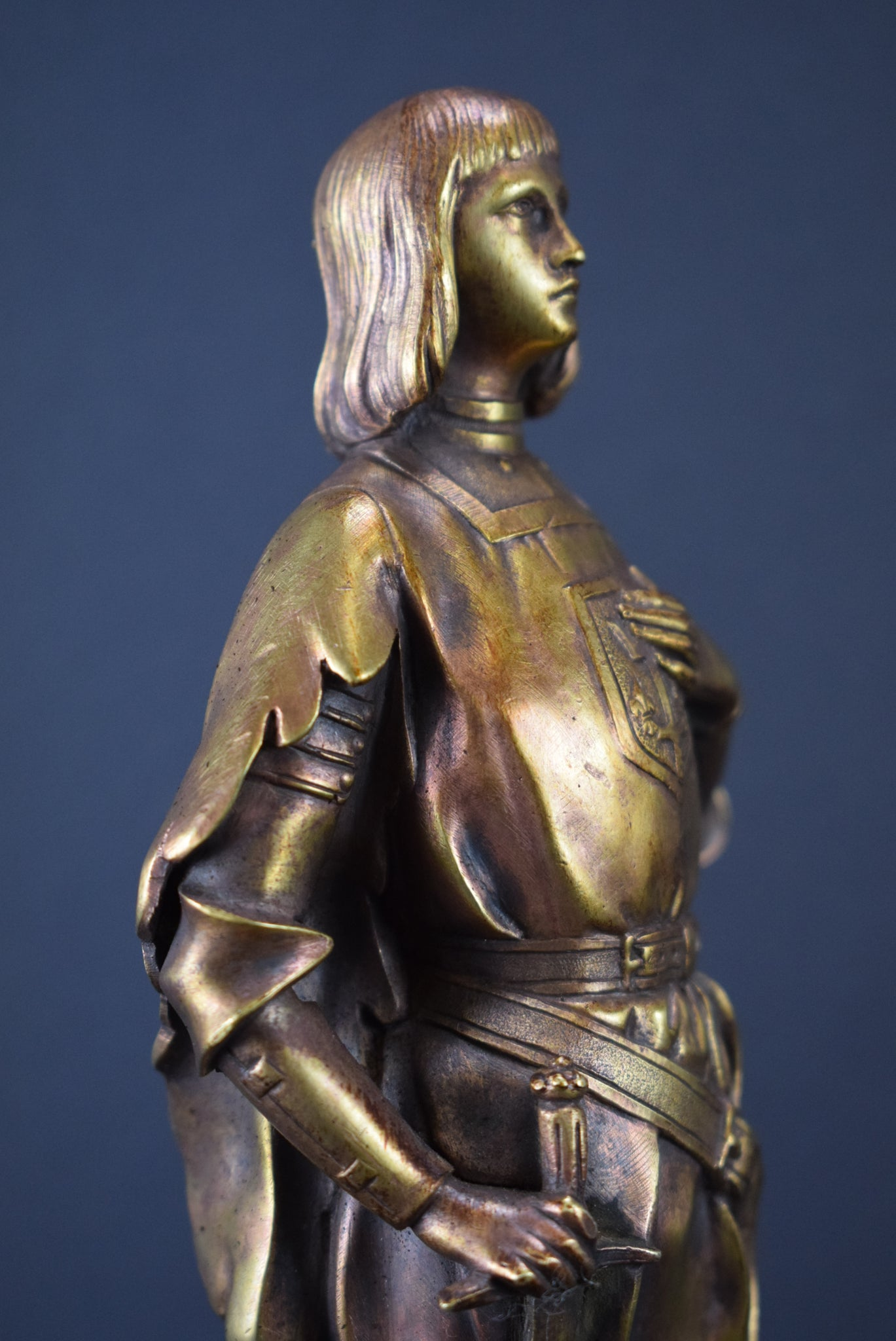 St Joan of Arc Bronze Statue - Charmantiques