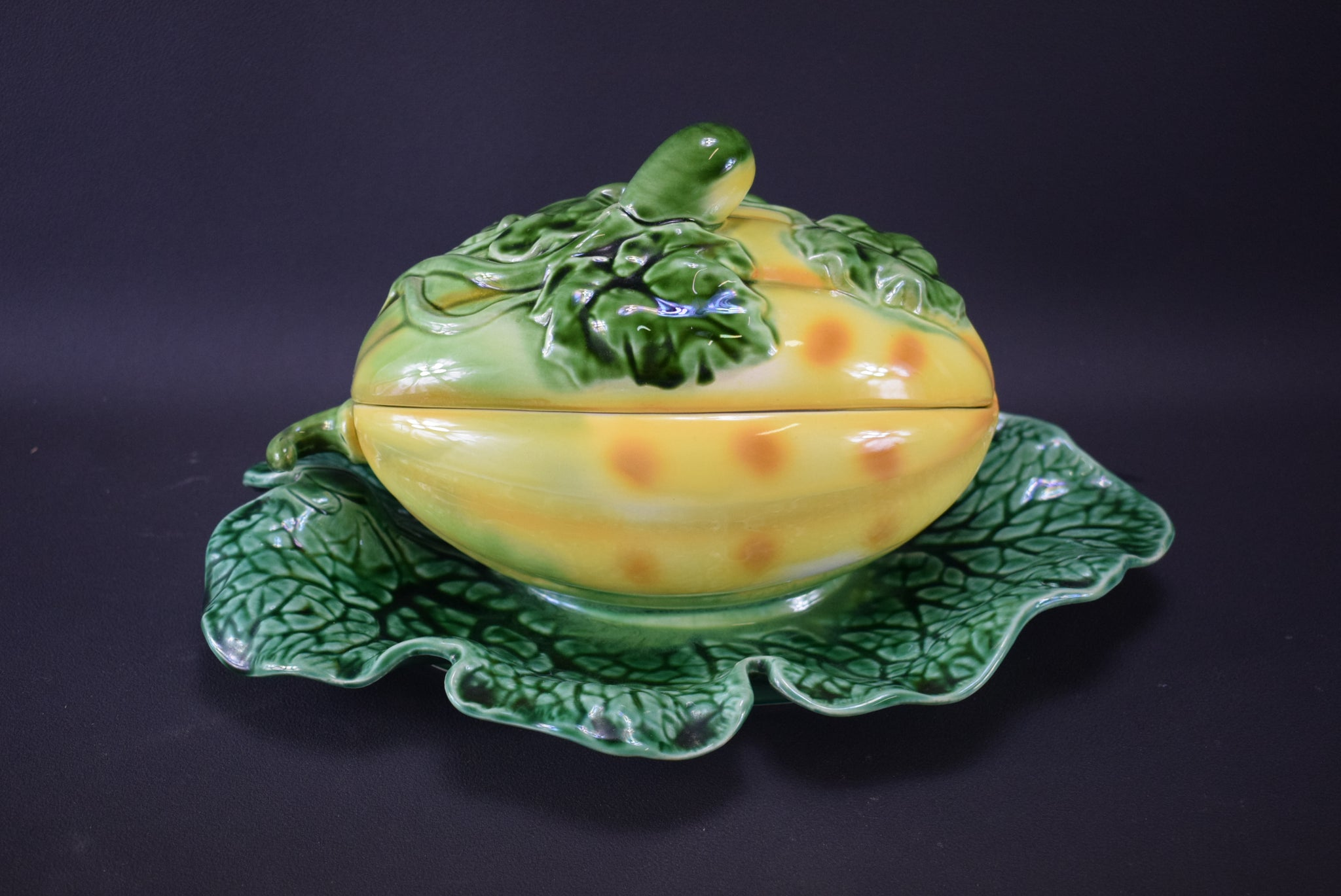 Melon Covered Tureen by Sarreguemines - Charmantiques