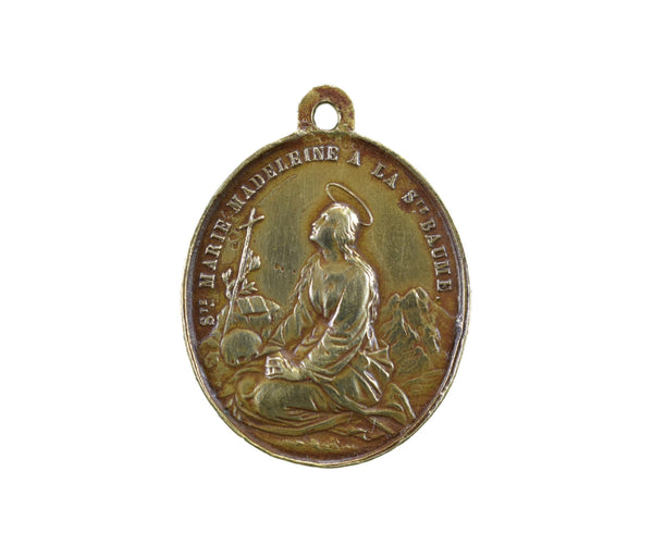 19th C St Mary Magdalene Medal - Charmantiques