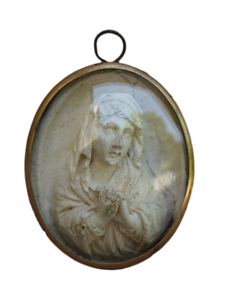 Virgin Mary Medallion - Charmantiques