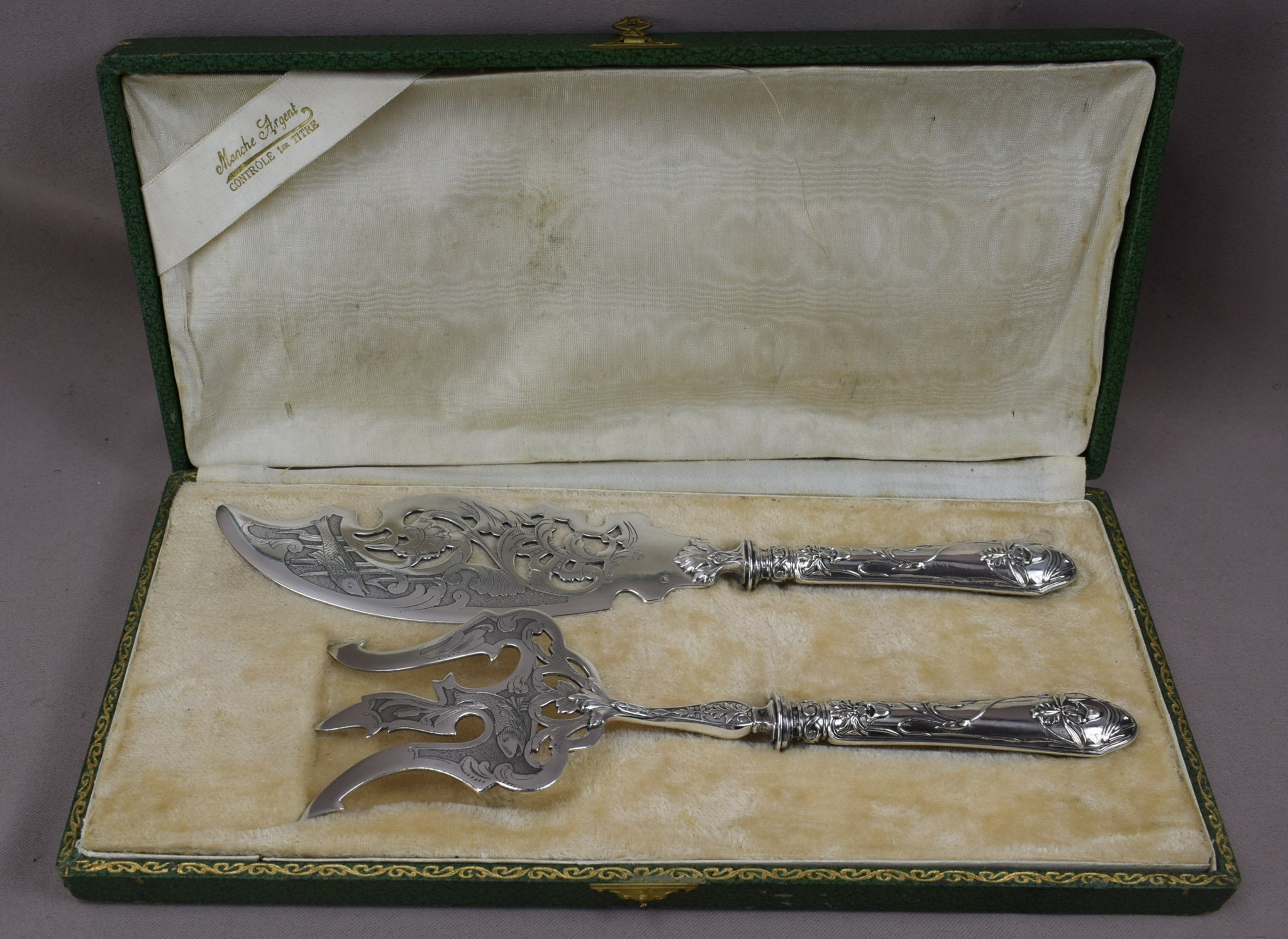 Art Nouveau Fish Serving Set - Charmantiques