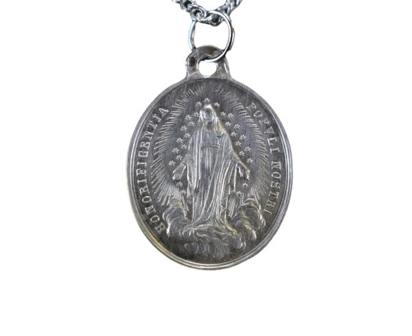 Sterling Silver Mary Medal 1854 Pope Pie IX Immaculate Conception Dogma