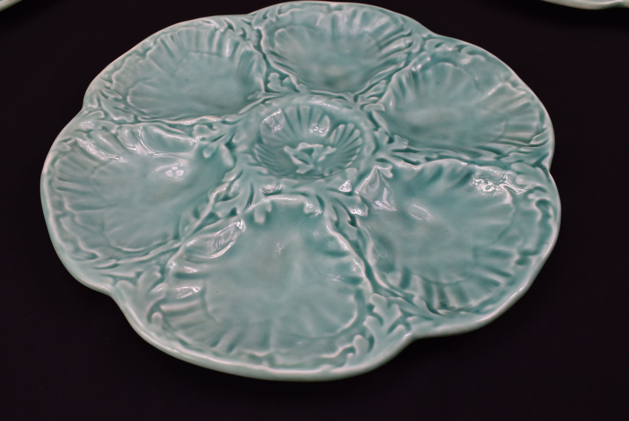 Set of 5 Gien Oyster Plate - Charmantiques