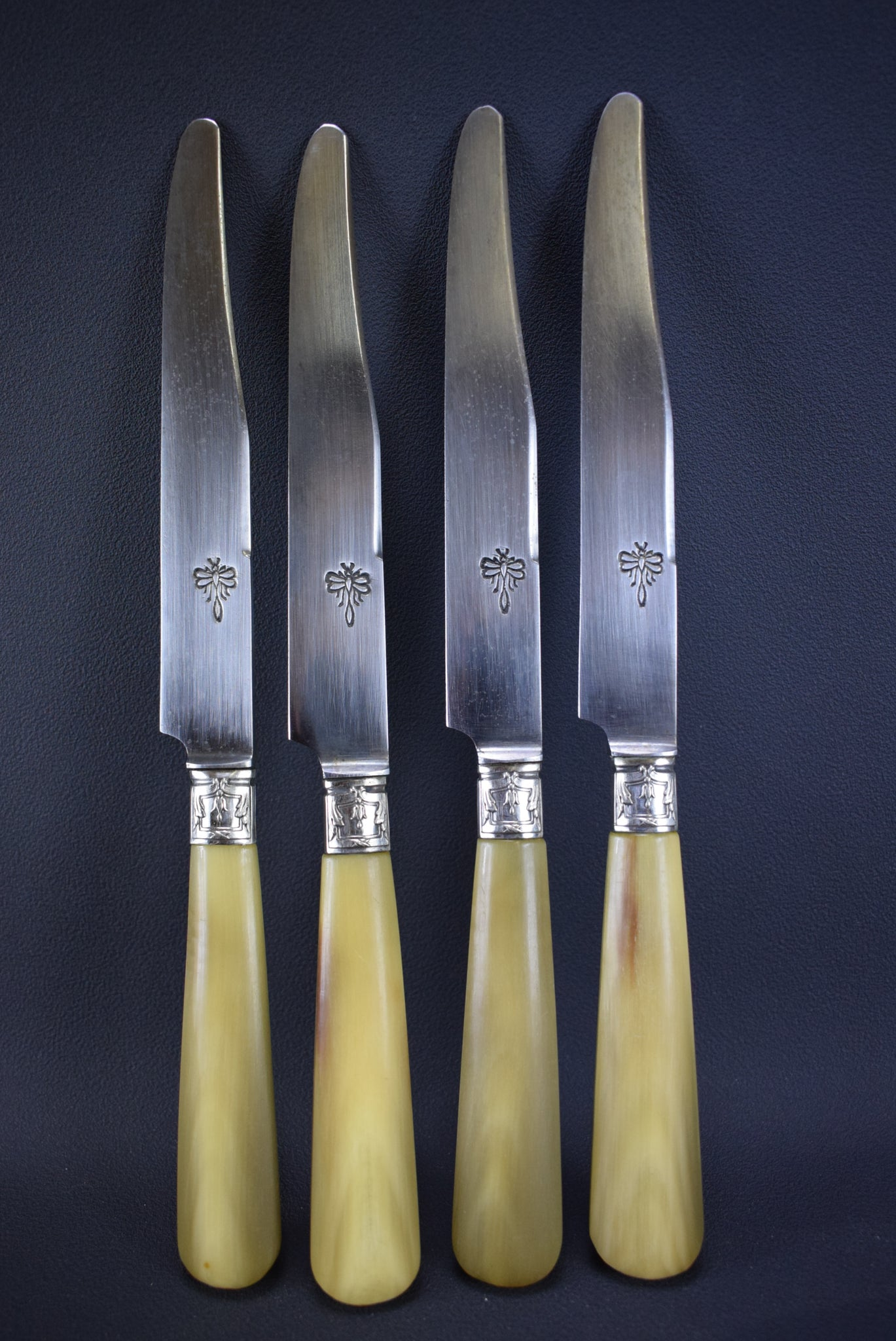 Antique French Louis XV Style Carving Set Salad Server 24 Knives Set