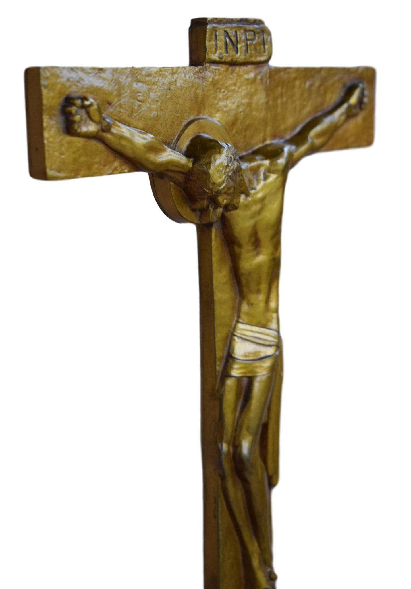 AM Roux Bronze Crucifix - Charmantiques