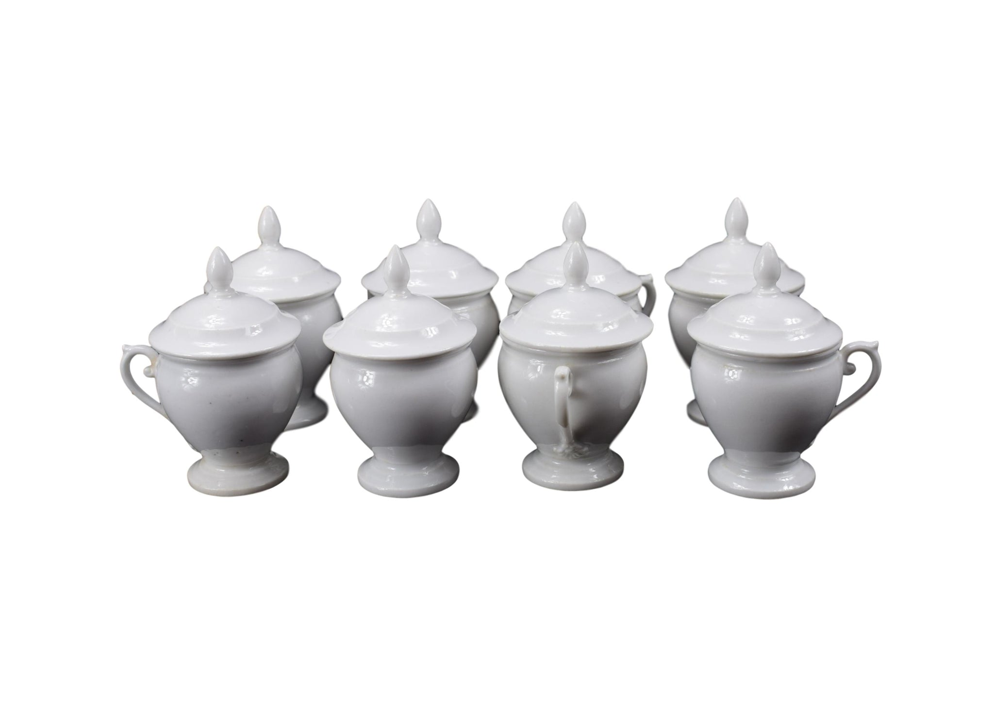 Set of 8 Cream Pots - Charmantiques