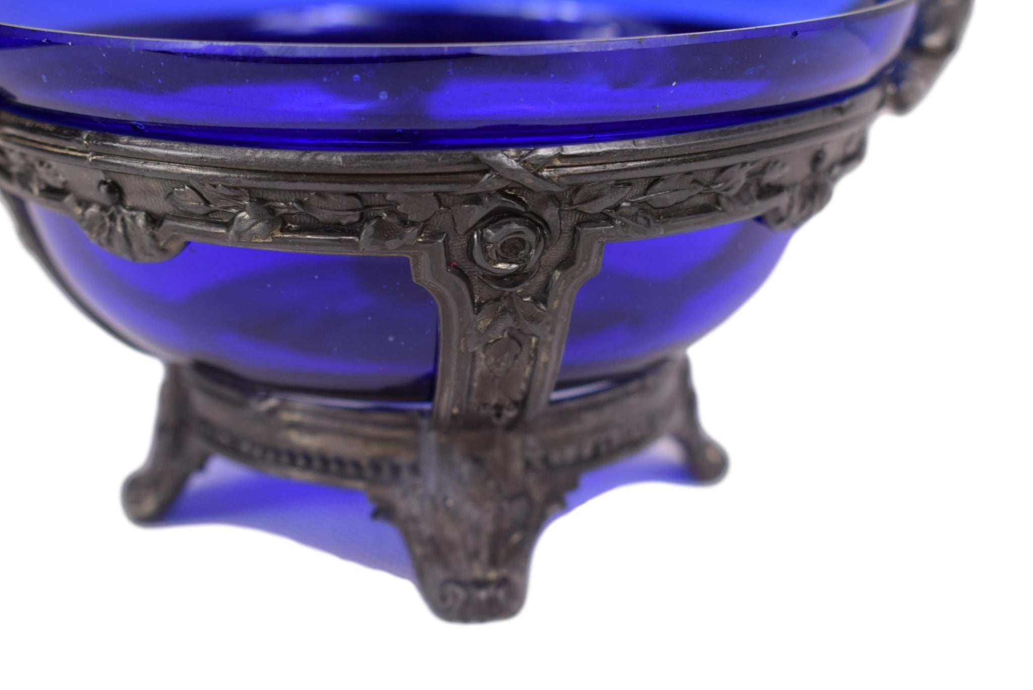 Cobalt Blue Trinket Bowl - Charmantiques