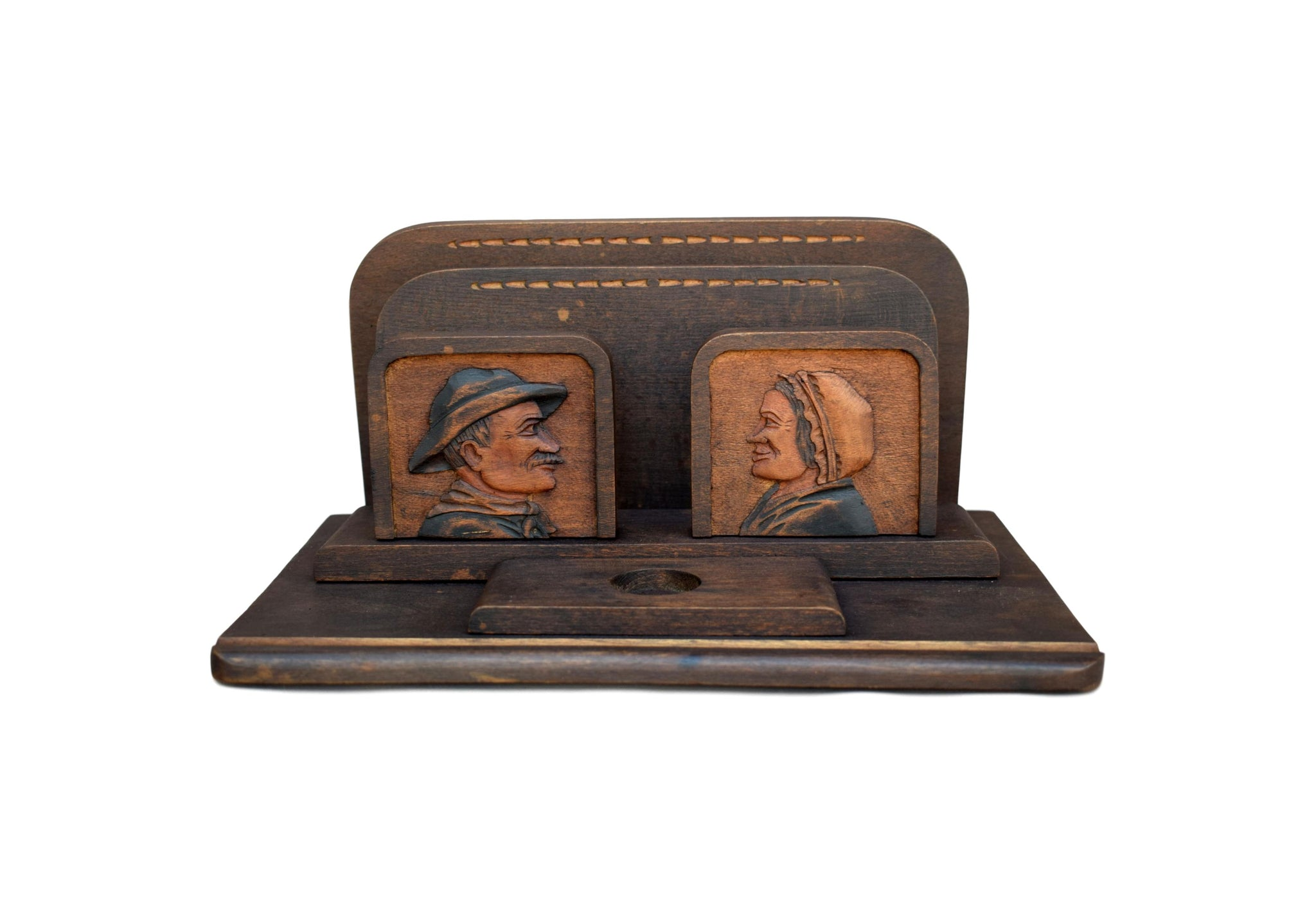 Rustic Wood Letter Holder - Charmantiques