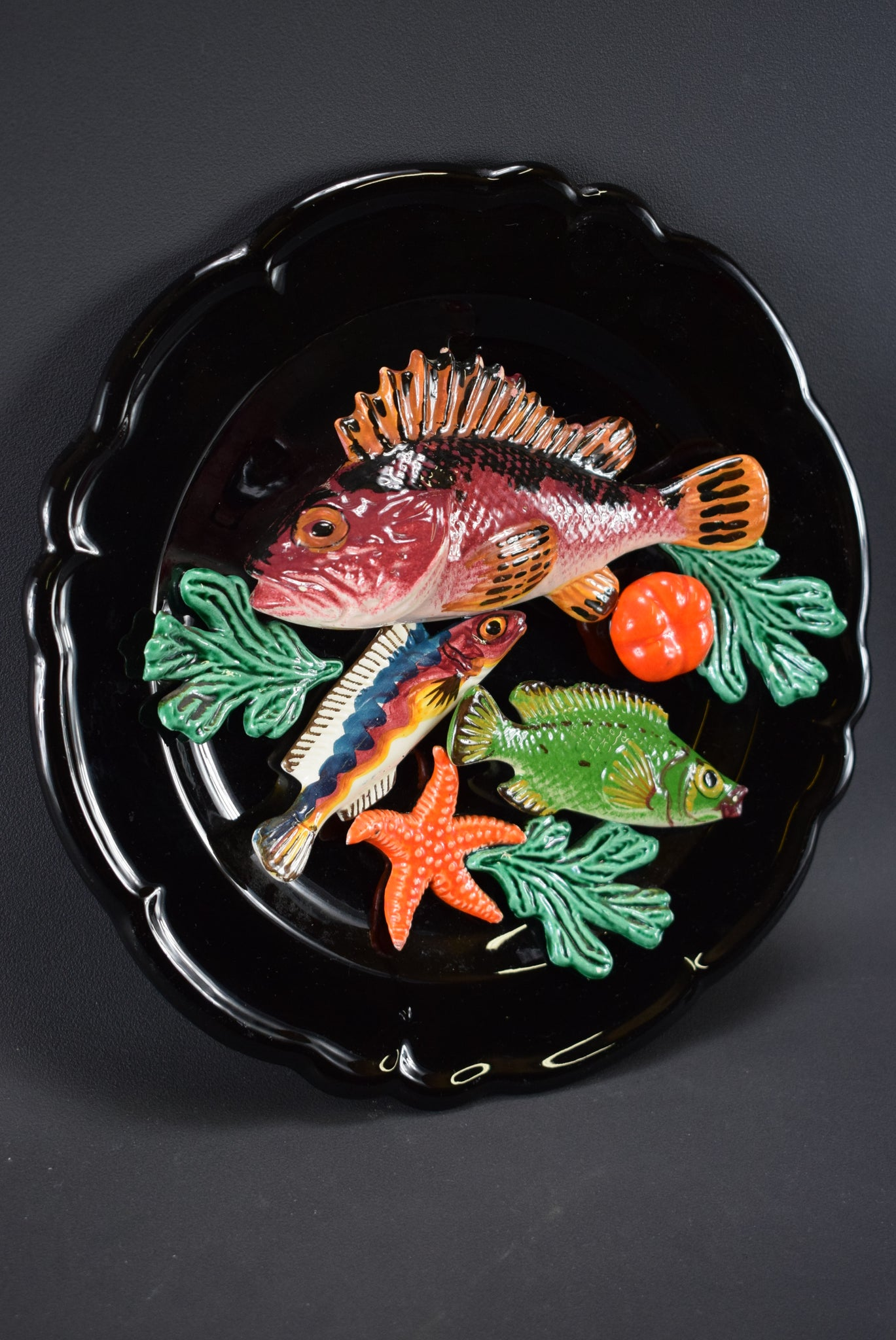 Large Fish Wall Plate - Charmantiques