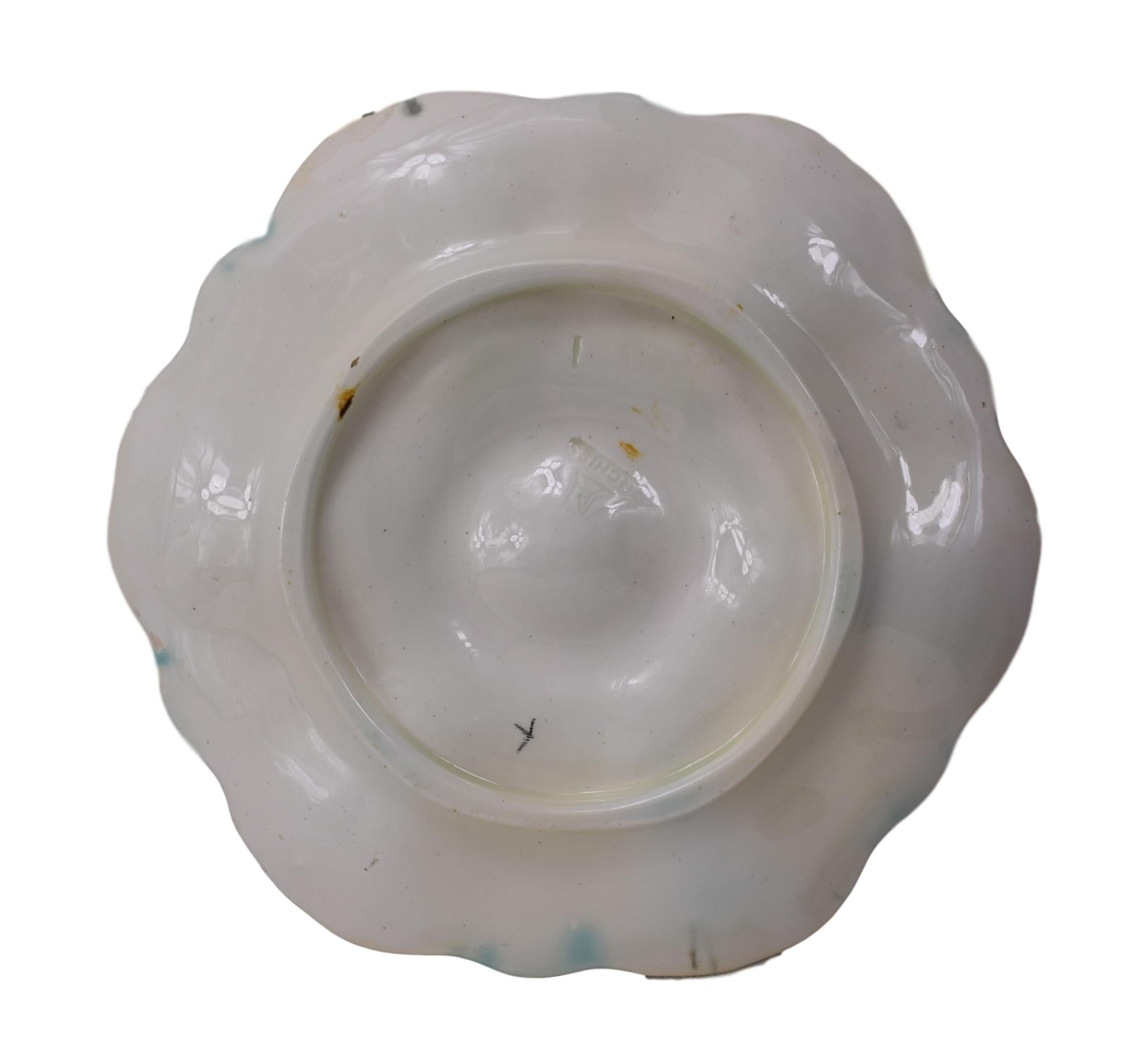 Orchies Majolica Oyster Plate