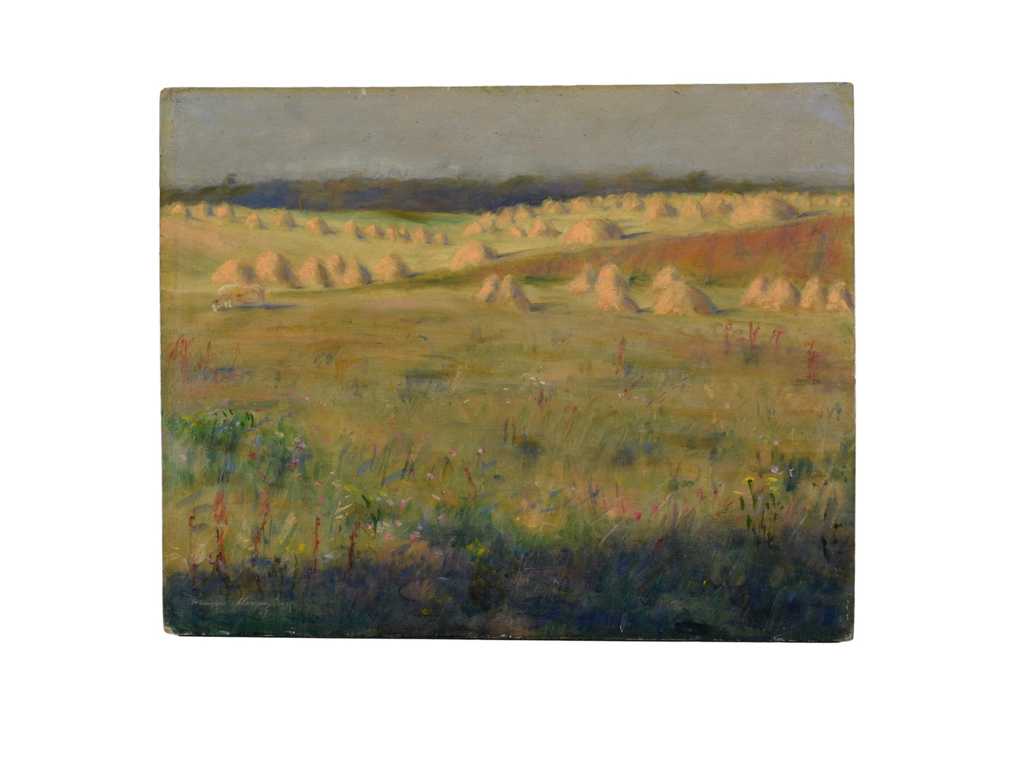 French Impressionist Oil Painting Haystack Monet Style Painting 1915