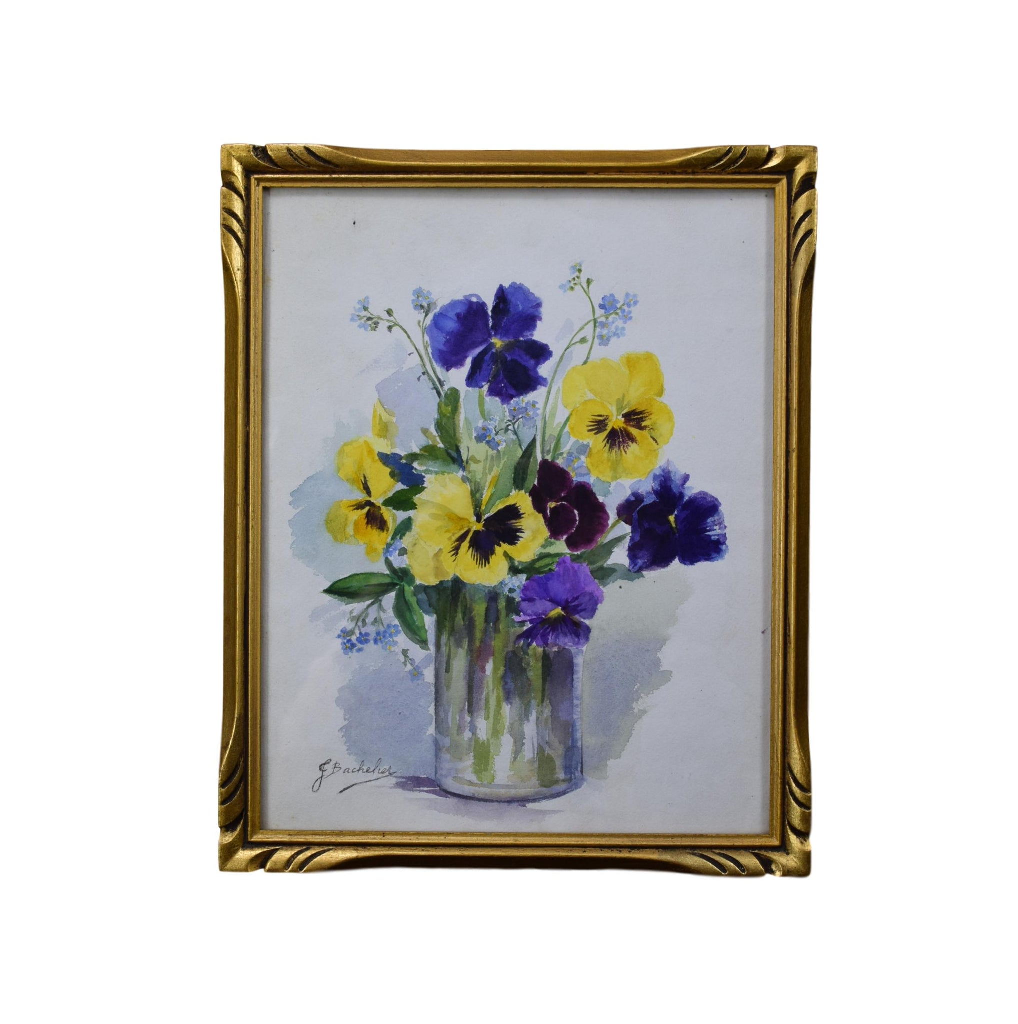 Pansy Watercolor - Charmantiques
