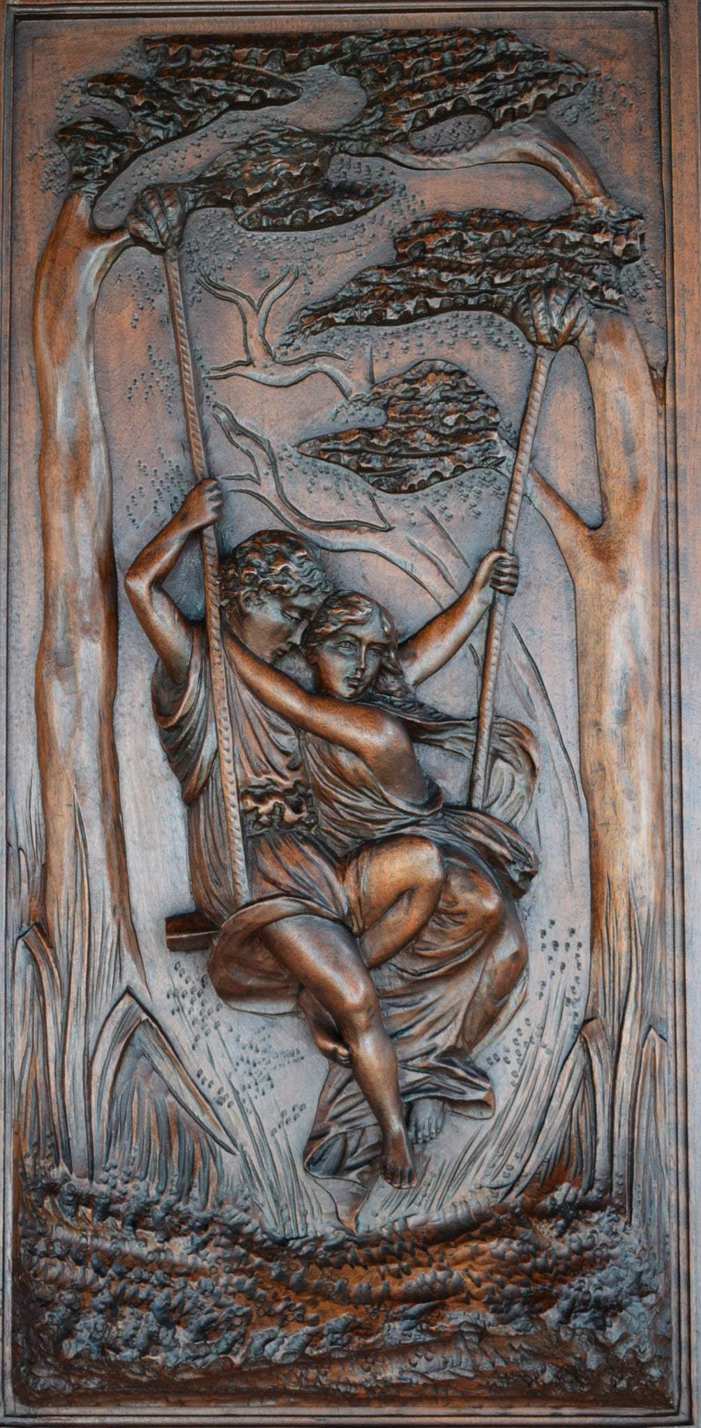 Lovers Carved Door - Charmantiques